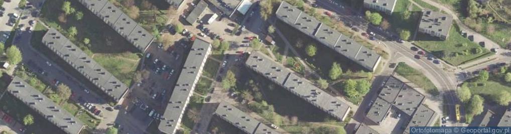 Zdjęcie satelitarne Międzyblokowa ul.