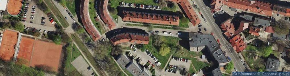 Zdjęcie satelitarne Morcinka Gustawa ul.