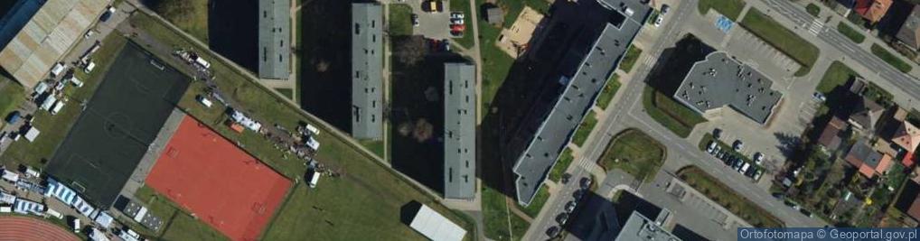 Zdjęcie satelitarne Modrzewskiego Andrzeja Frycza ul.