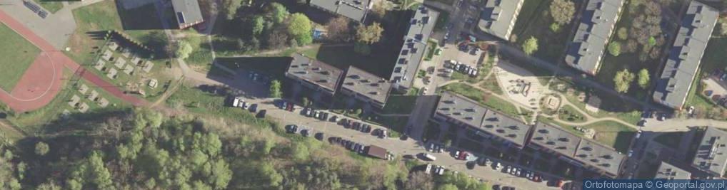 Zdjęcie satelitarne Modrzewiowa ul.