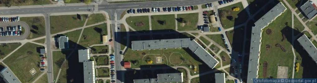 Zdjęcie satelitarne Nauczycielska ul.