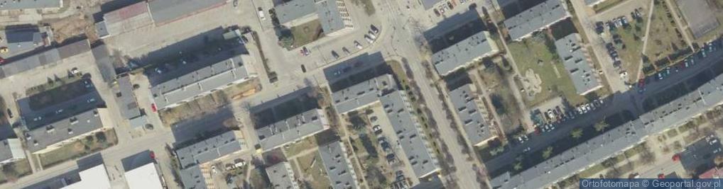 Zdjęcie satelitarne Naftowa ul.