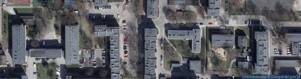 Zdjęcie satelitarne Obrońców Warszawy ul.