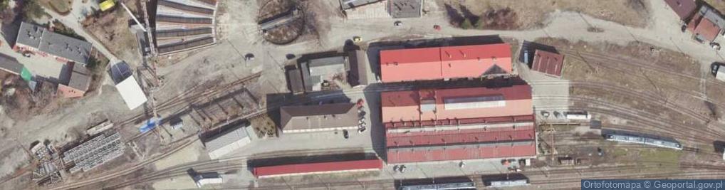 Zdjęcie satelitarne Obszar Kolei ul.