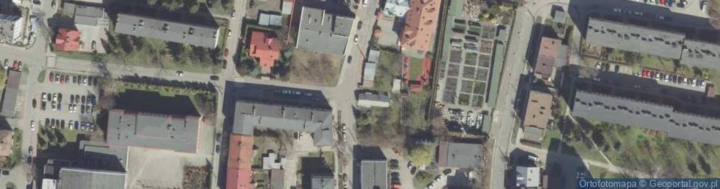 Zdjęcie satelitarne Ochronek ul.