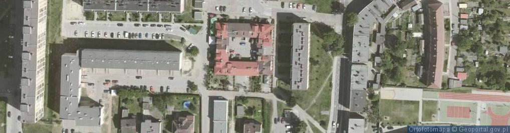 Zdjęcie satelitarne Odrowążów ul.