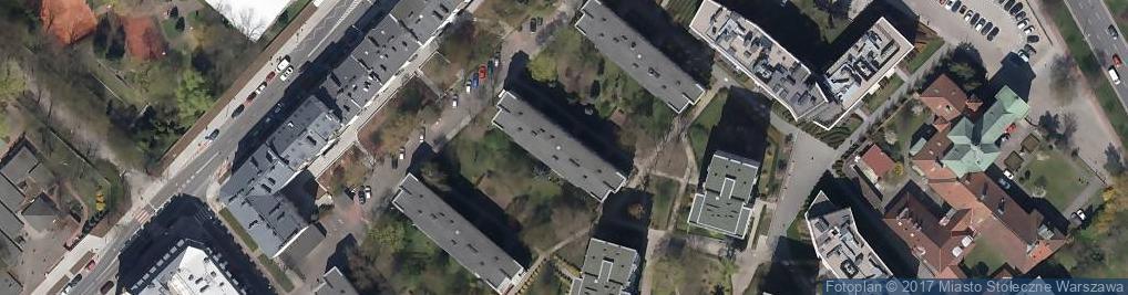 Zdjęcie satelitarne Okrąg ul.