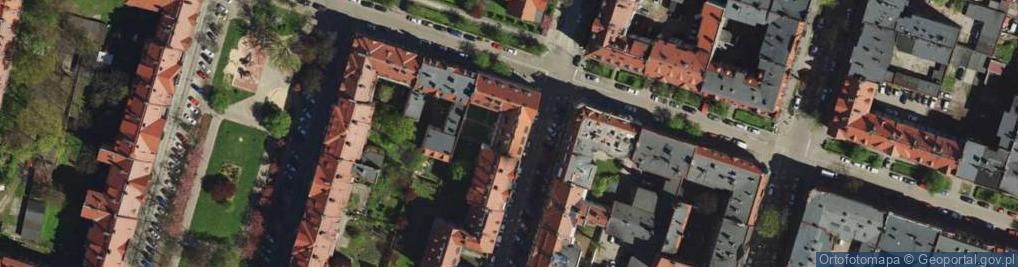 Zdjęcie satelitarne Oświęcimska ul.