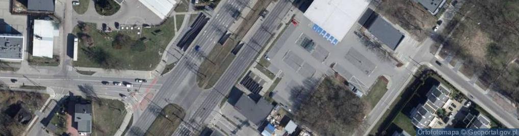 Zdjęcie satelitarne Pabianicka ul.