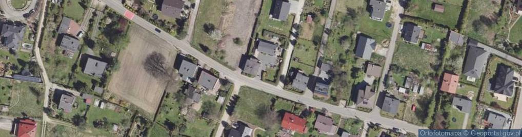 Zdjęcie satelitarne Paprotek ul.