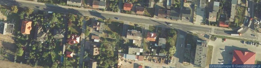Zdjęcie satelitarne Padniewska ul.