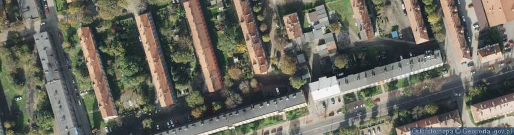 Zdjęcie satelitarne Panieńskie Skały ul.