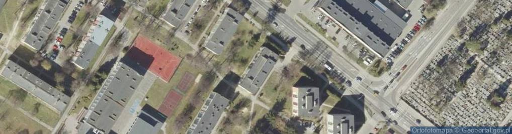Zdjęcie satelitarne Peowiaków ul.
