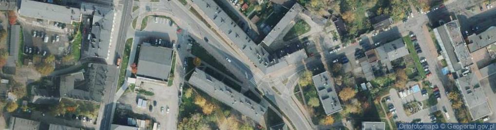 Zdjęcie satelitarne Plac Bohaterów Getta pl.