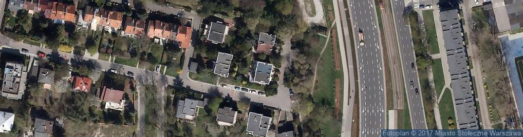 Zdjęcie satelitarne Pływacka ul.