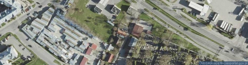 Zdjęcie satelitarne Poległych ul.