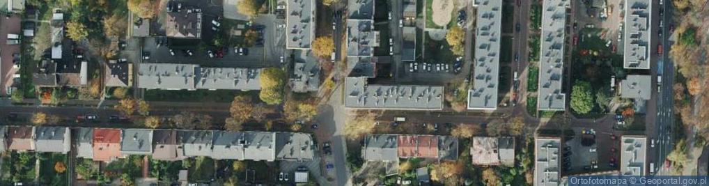 Zdjęcie satelitarne Polskiej Organizacji Wojskowej ul.