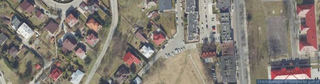Zdjęcie satelitarne Popielów ul.