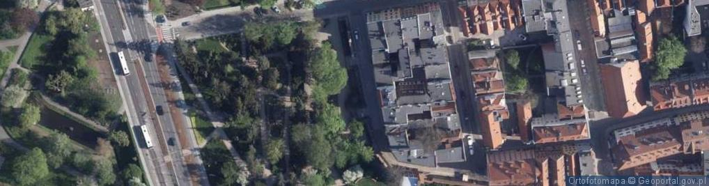Zdjęcie satelitarne Pod Krzywą Wieżą ul.