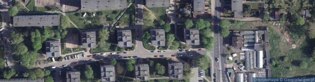 Zdjęcie satelitarne Popiela ul.