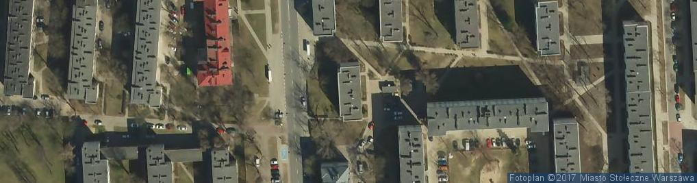 Zdjęcie satelitarne Podskarbińska ul.