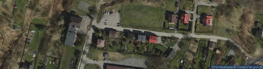 Zdjęcie satelitarne Projektowana ul.