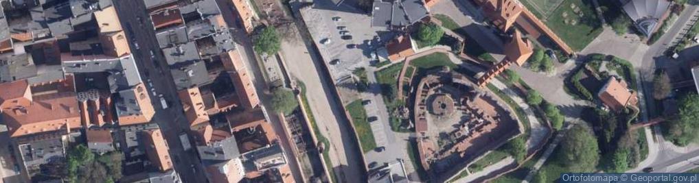 Zdjęcie satelitarne Przedzamcze ul.