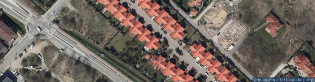 Zdjęcie satelitarne Rajskiej Jabłoni ul.