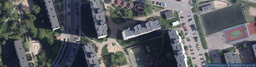 Zdjęcie satelitarne Raszei Leona ul.