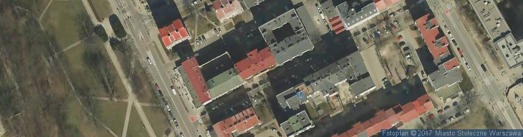 Zdjęcie satelitarne Radna ul.