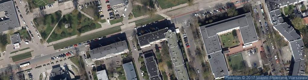 Zdjęcie satelitarne Rakowiecka ul.