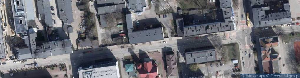 Zdjęcie satelitarne Rewolucji 1905 r. ul.