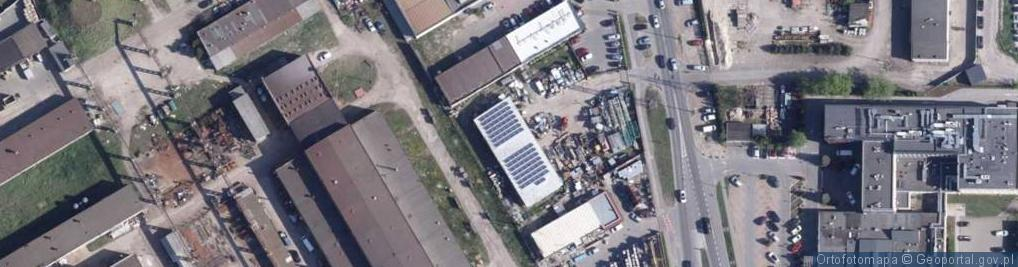 Zdjęcie satelitarne Równinna ul.