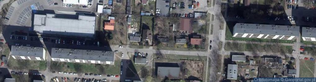 Zdjęcie satelitarne Rysownicza ul.