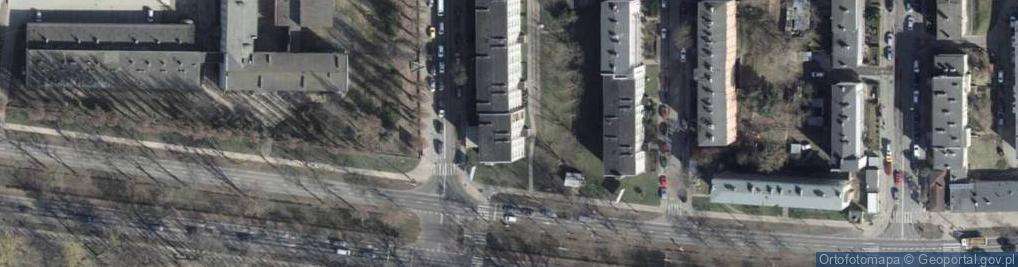 Zdjęcie satelitarne Santocka ul.