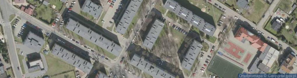 Zdjęcie satelitarne Sejmu Śląskiego ul.