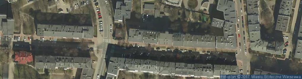 Zdjęcie satelitarne Sękocińska ul.