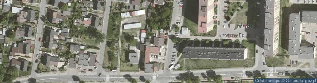 Zdjęcie satelitarne Skarbnika ul.