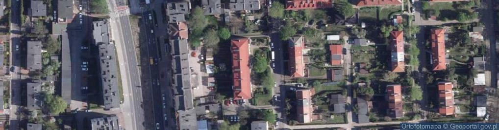 Zdjęcie satelitarne św. Andrzeja Boboli ul.