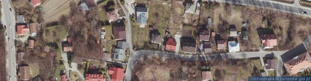Zdjęcie satelitarne św. Krzyża ul.