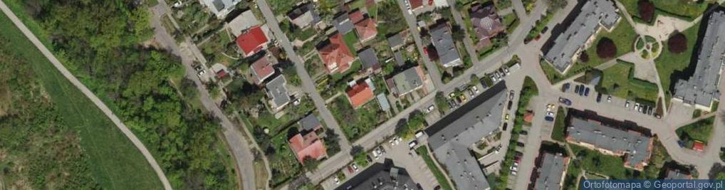 Zdjęcie satelitarne św. Huberta ul.