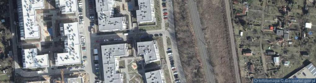 Zdjęcie satelitarne Tenisowa ul.