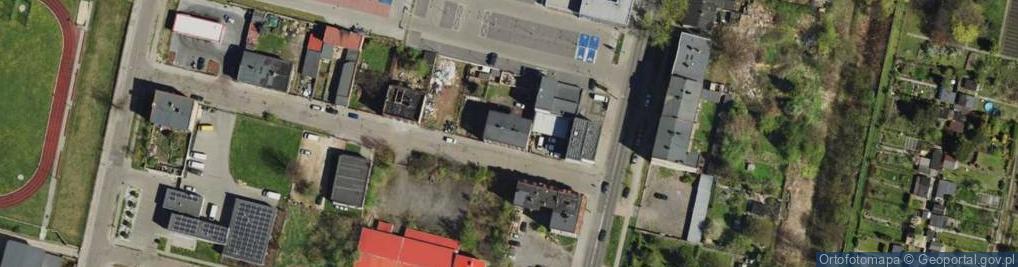 Zdjęcie satelitarne Tramwajarzy ul.
