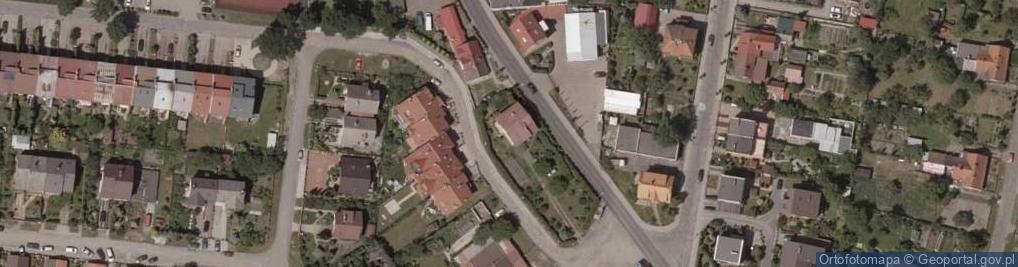 Zdjęcie satelitarne Trzebnicka ul.
