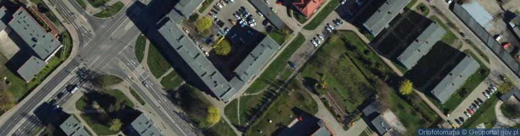 Zdjęcie satelitarne Tysiąclecia ul.