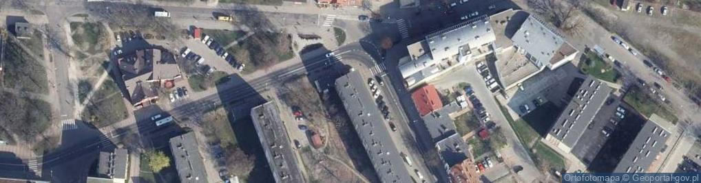 Zdjęcie satelitarne Unii Lubelskiej ul.