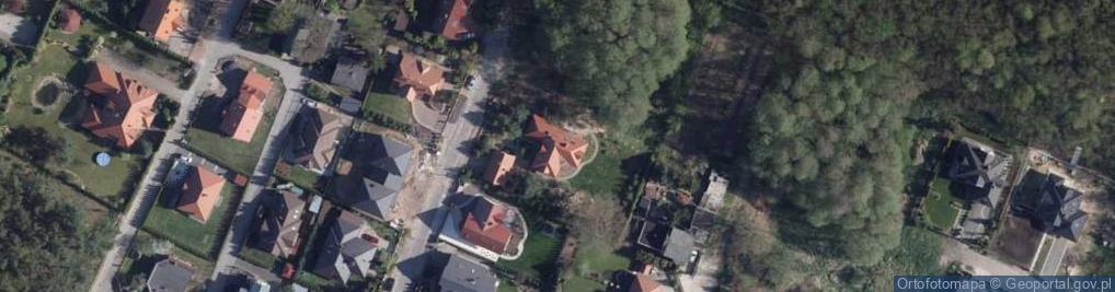 Zdjęcie satelitarne Wakacyjna ul.