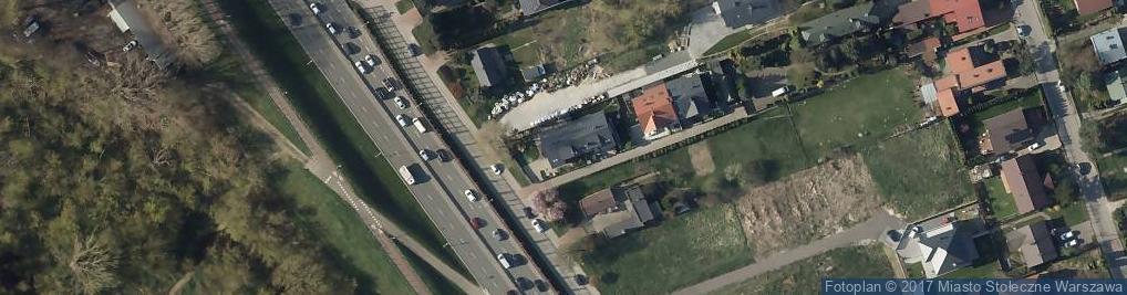 Zdjęcie satelitarne Wał Miedzeszyński ul.