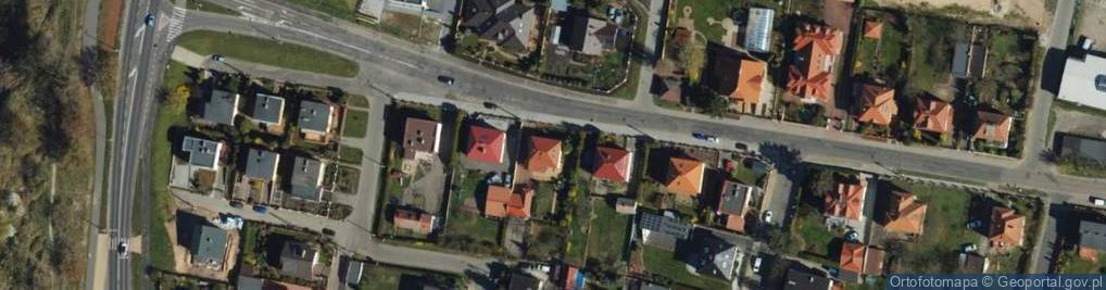 Zdjęcie satelitarne Wiejska ul.