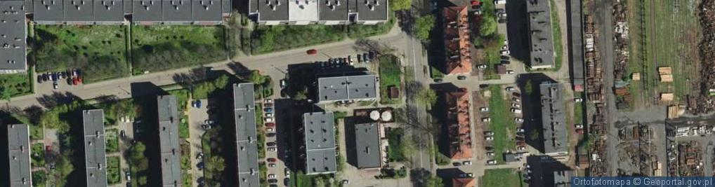 Zdjęcie satelitarne Worpie ul.